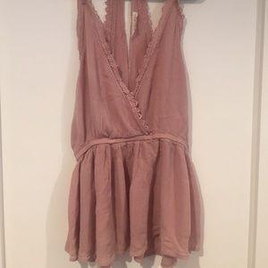 Pacsun lace-trimmed blouse